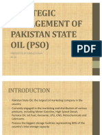 Strategic Management of Pakistan State Oil (Pso