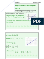 Notes Slope, Distance, Midpoint
