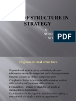 Role of Structure in Strategy Final