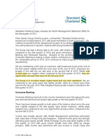 Standard Chartered PLC IMS Q1 2011