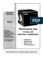 Kenmore 2500 Central Humidifier