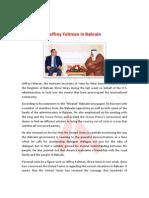 Jeffrey Feltman in Bahrain