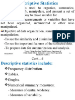 Biostatistics:Descriptive Statistics