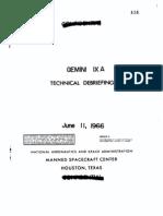 Gemini IX A Technical Debriefing