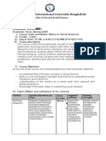 Basics in Social Science-Course Outline-SecA-J