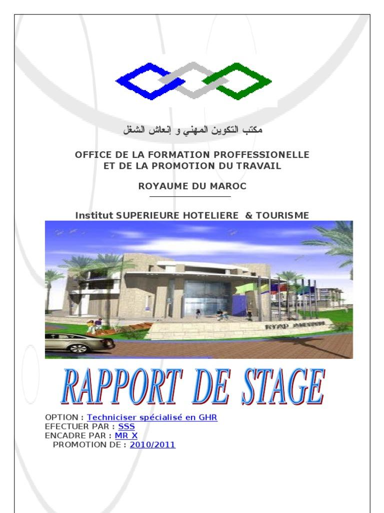 Rapport de stage de restaurant - Rapport de stage en cuisine ...