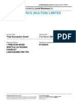 ANGLO FABRICS (BOLTON) LIMITED  | Company accounts from Level Business