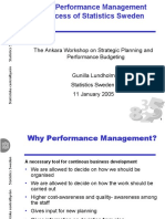 2 1 SWEDEN Gunilla LUNDHOLM the Performance Management Process of Statistics Sweden