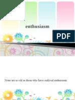 Why Enthusiasm