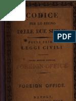 Codice Per Lo Regno Delle Due Sicilie - Parte Prima Leggi Civili - 1836