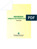 Indonesian Domestic Solid Waste Statistics 2008