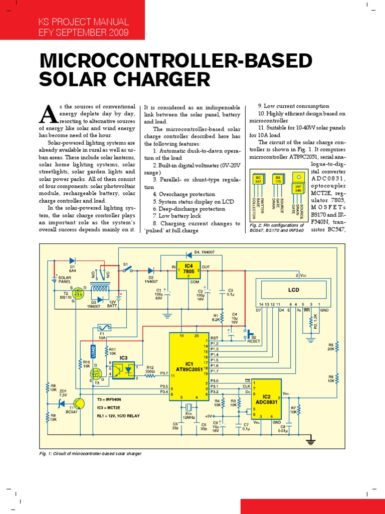 Solar Charger Analog To Digital Converter Mosfet Circuits