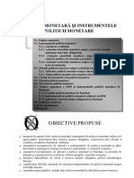 Politici Monetare Si Instrumentele Politicii Monetare