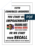 112th CONGRESS-MEMBER - You Start IMPEACHMENT or We Start RECALL