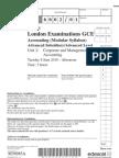 Accounts Unit 2 6002/01 Question Paper & Source Booklet June 2010