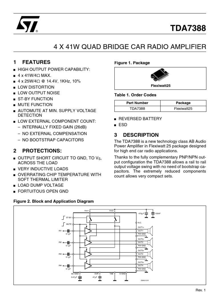 Tda7388 Amplifier Circuit Diagram Wiring Diagrams Class A Power Capacitor Inverter