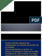 Implementación de un SGC