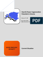 Heat&Power on Potential in Estonia