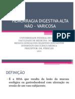 HEMORRAGIA DIGESTIVA ALTA NÃO - VARICOSA-