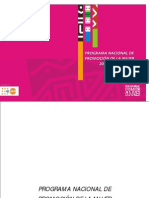 Programa Nacional de Promocion de La Mujer 2004-2010