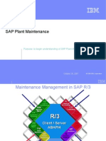 Team Training - SAP Plant Maintenance Overview