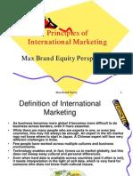 Principles of International Marketing Max Brand Equity