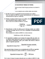 Cálculo de selección de tanque de purgas