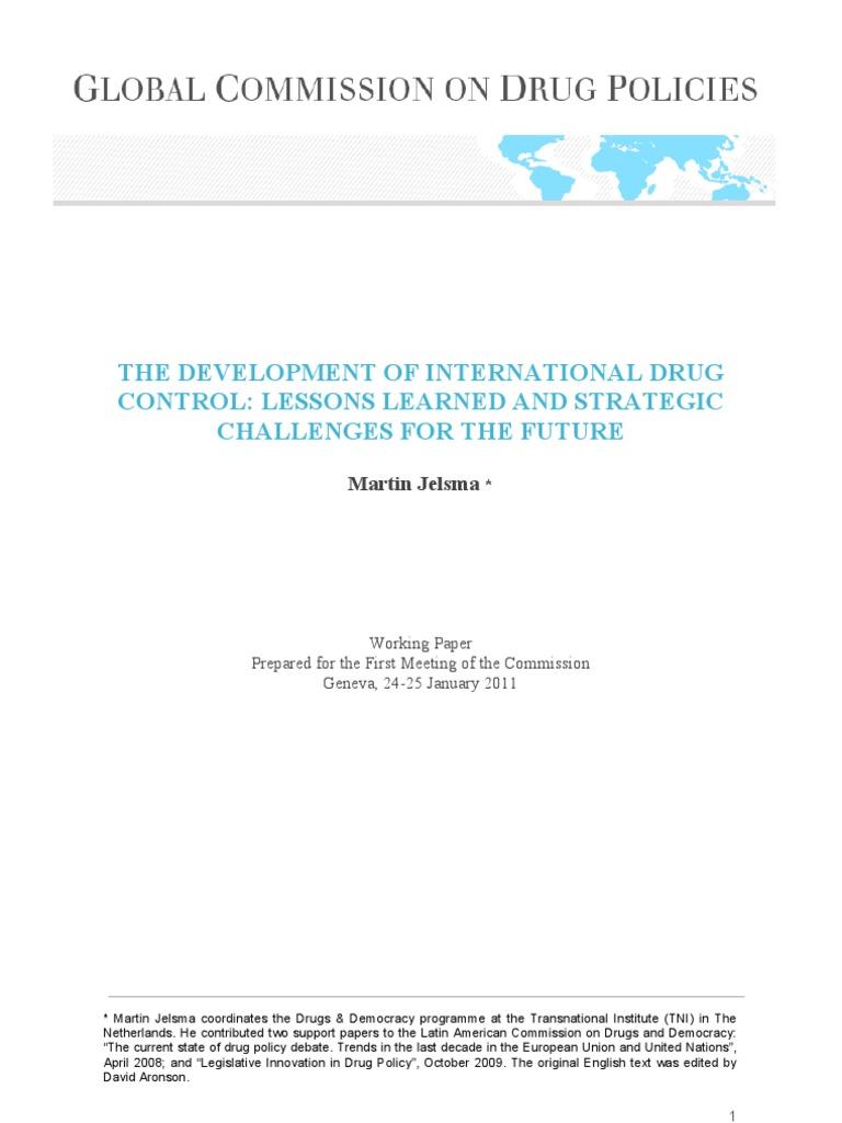 The Development of International Drug Control | Prohibition Of Drugs | Opium