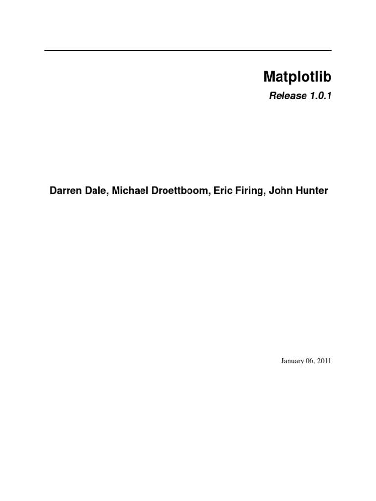 Matplotlib 1.0.1 | Button (Computing) | Matlab