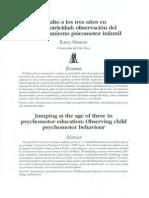 El salto a los tres años en psicomotricidad. Observación del comportamiento psicomotor infantil