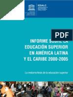 Informe Educacion Superior UNESCO -2000-2005