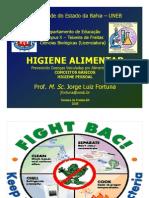 HIGIENE ALIMENTAR 01 - Conceitos & Higiene Pessoal