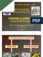 HIGIENE ALIMENTAR 03 - Principais Toxinfecções Alimentares