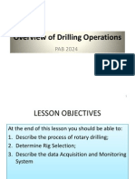 Overview of Drilling Operations MAY 2011 SEM