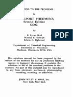 Transport Phenomena 2nd Ed by Bird Stewart Lightfoot (Solution Manual)
