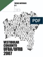 2007 Prova Portugues e Ciencias Naturais - Caderno 1 Fase 1