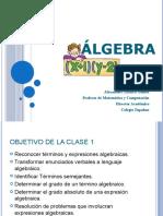 Algebra Clase 1