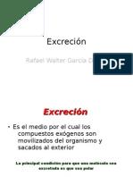 EXCRECION DE FARMACOS
