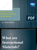 EFFECTIVE USE OF INSTRUCTIONAL MATERIALS