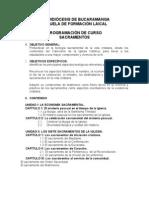 PROGRAMA DE SACRAMENTOS