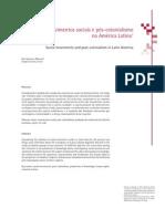 Movimentos sociais e pós-colonialismo na America latina
