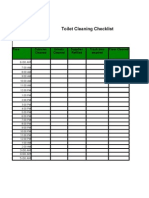 Toilet Cleaning Checklist 2