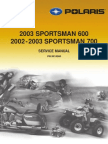 2002 Polaris Sportsman 700 Service Manual