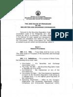 SEC 2006 Rules of Procedure