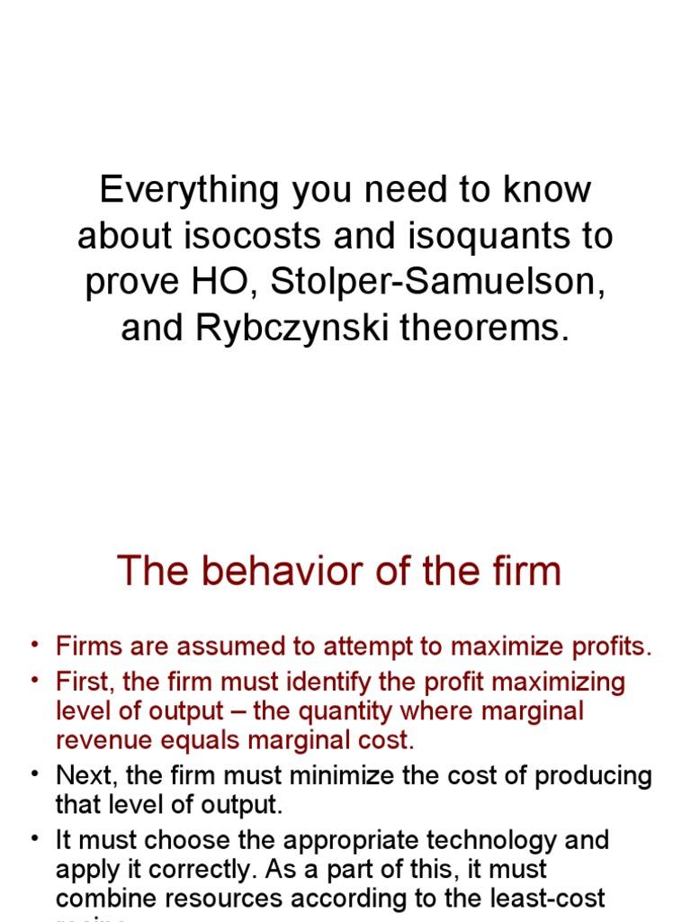 Isocosts Isoquants and Proofs | Labour Economics ...