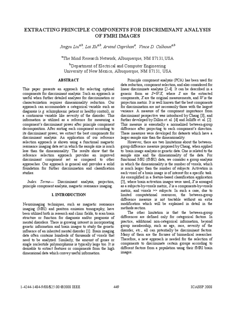 P 2008 Liu Extracting Principle Components For Ant