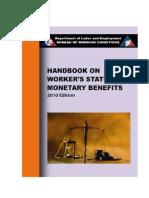 Handbook on Worker's Statutory Monetary Benefits 2010Ed (Not Mine)