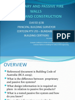Passive Firewalls Design and Construction