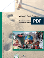 Visions for Change - Recommendations for Effective Policies on Sustainable Lifestyles