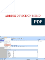 Adding Device on Memo
